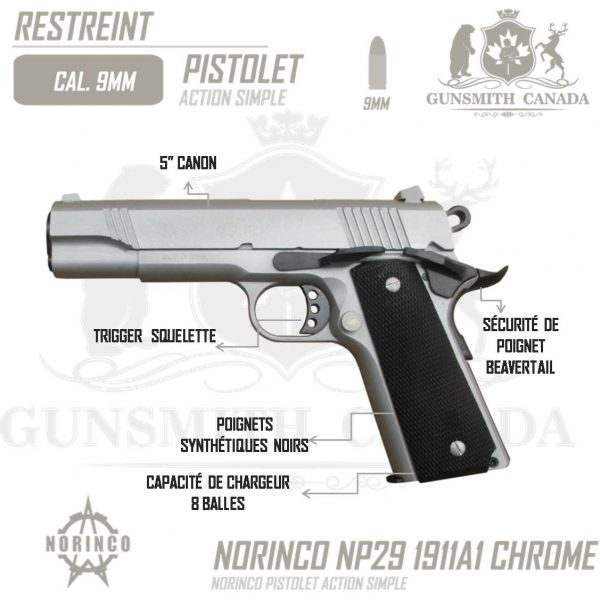 NORINCO-NP29-M-1911A1-9MM-5-CHROME-FR
